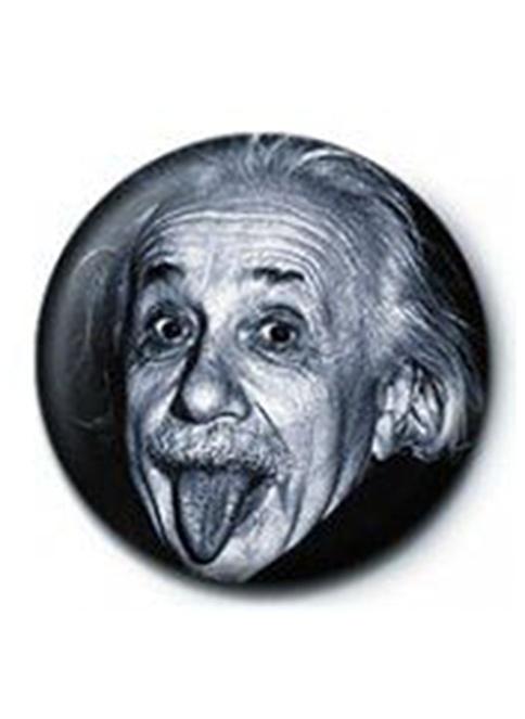Pyramid International Rozet - Einstein Renkli